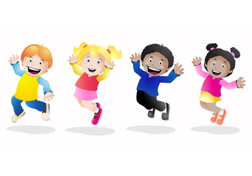 shutterstock_68262691 Set with groups of kids having fun