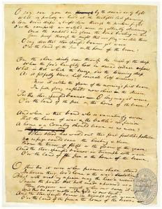 star spangled banner handwritten