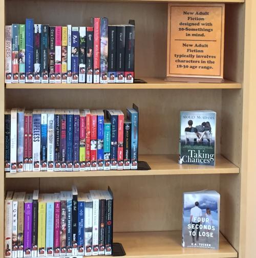 new adult shelves